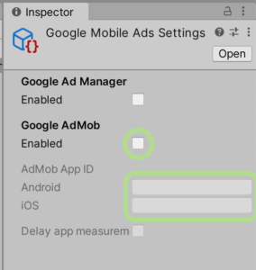 アプリIDの設定