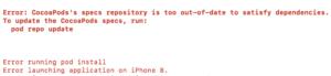 flutter pod install error